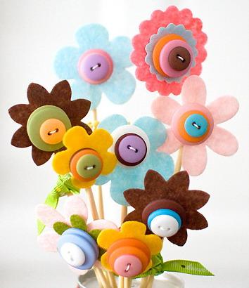Flores decorativas Manualidades