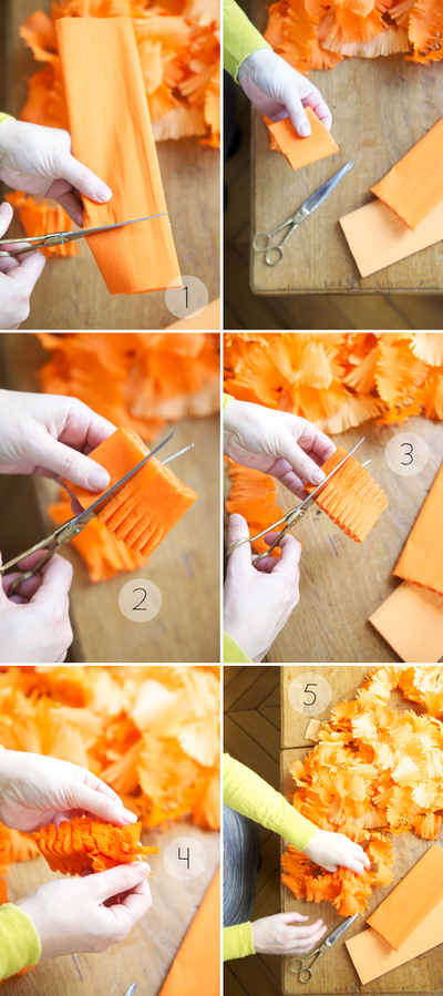 Decorando con papel crep manualidades for Manualidades con papel crepe
