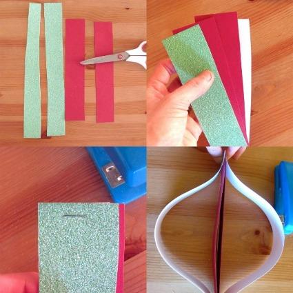 Adornos navide o en papel estilo mod manualidades - Adornos de papel para navidad ...