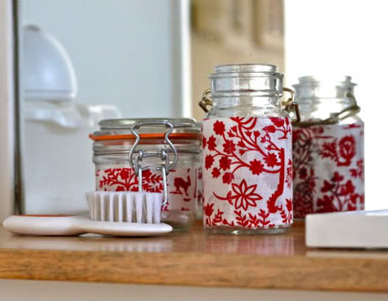 Frascos decorados para tu ba o manualidadesmanualidades for Frascos decorados para navidad