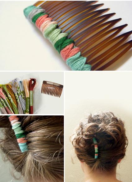 Original accesorio para el cabello manualidades - Como hacer adornos para el pelo ...