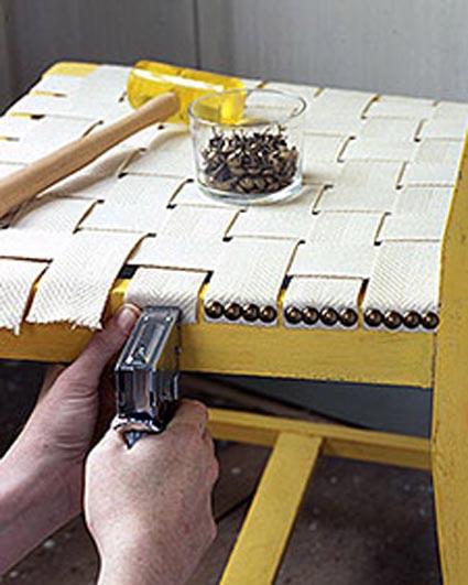 Reparar una silla manualidades - Materiales para tapizar ...