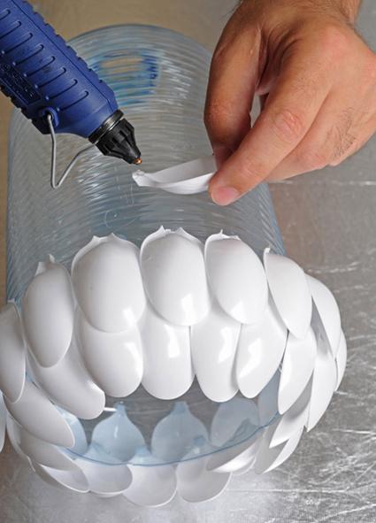 Como hacer una l mpara de techo reciclada manualidades - Como hacer una lampara de techo moderna ...
