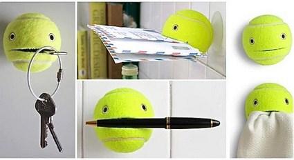 Reciclando pelotitas de tenis manualidades - Cosas originales para el hogar ...