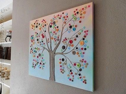 Botones para decorar manualidades - Manualidades faciles cuadros ...