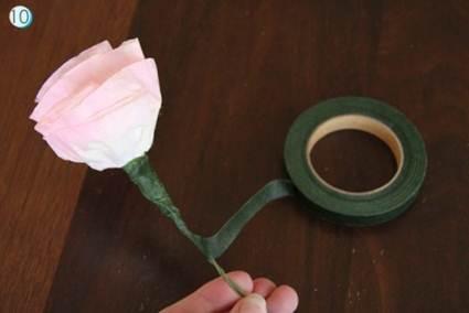 Flores con filtros de café