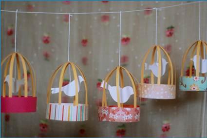 Jaulas de papel para decorar manualidades - Manualidades de papel para decorar ...