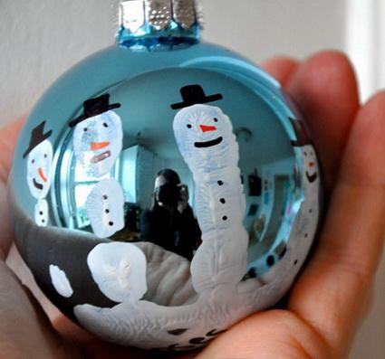 Esfera navideña pintada