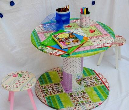 mesa de carrete