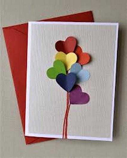 Sencillas tarjetas de San Valentín « Manualidades