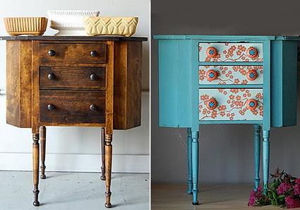 Un viejo mueble restaurado manualidadesmanualidades - Restaurar muebles con papel ...