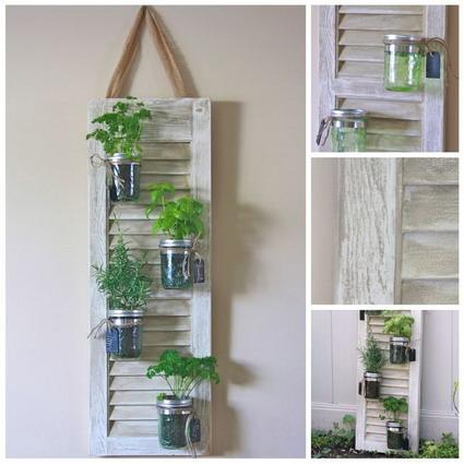 Reutiliza viejas ventanas manualidades - Marcos de fotos para colgar ...