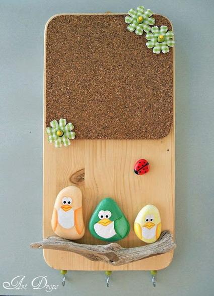 Dise os creados con piedras pintadas manualidades - Piedras decorativas para pared ...