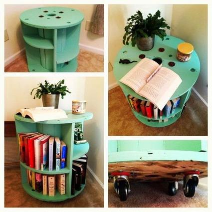 Bibliotecas recicladas manualidades - Estantes reciclados ...