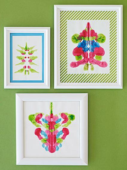 Cuadros decorativos hechos por los peque os de la casa - Manualidades cuadros modernos ...