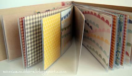 Mini álbum con fundas de plástico