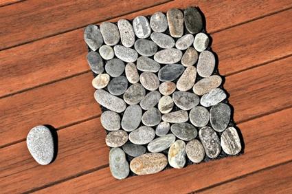 Alfombra de piedras