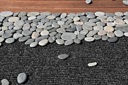 Piedras para hacer una alfombra