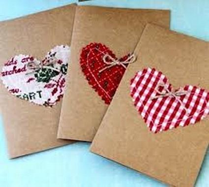 Sencillas tarjetas de san valent n manualidadesmanualidades - Como realizar tarjetas navidenas ...