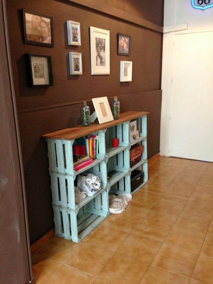 mueble de cajones de fruta