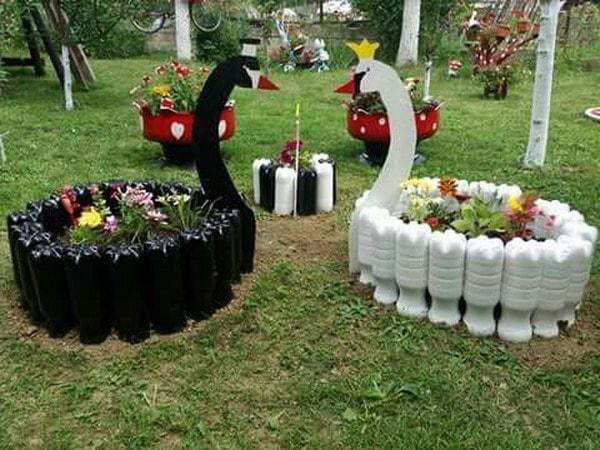 Dise os con materiales reciclados para decorar el jard n for Ideas para jardin reciclado